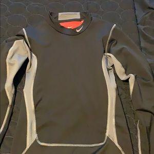 Boys Nike Pro Combat Hyperwarm Compression Shirt